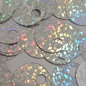 CLEARANCE Large Hole Sequins. Hologram Silver. For knitting and crochet. BUY 1 GET 1 FREE